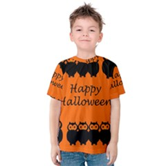 Happy Halloween - owls Kids  Cotton Tee