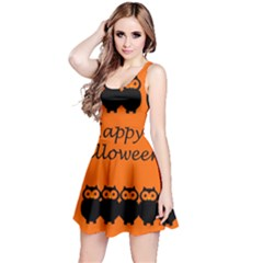 Happy Halloween - owls Reversible Sleeveless Dress