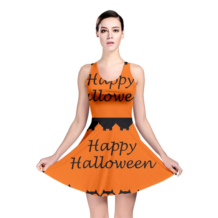 Happy Halloween - owls Reversible Skater Dress