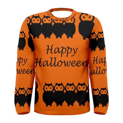 Happy Halloween - owls Men s Long Sleeve Tee
