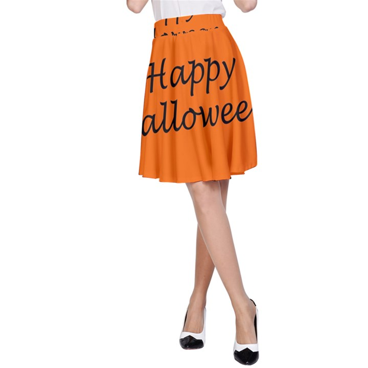 Happy Halloween - owls A-Line Skirt