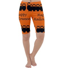 Happy Halloween - owls Cropped Leggings