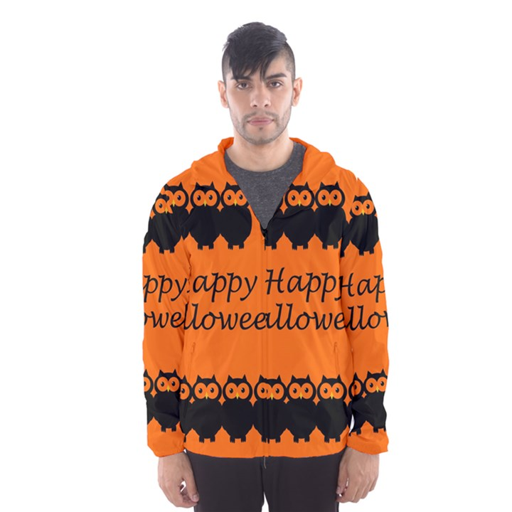 Happy Halloween - owls Hooded Wind Breaker (Men)