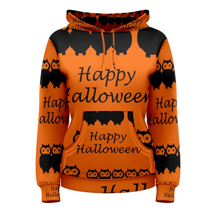 Happy Halloween - owls Women s Pullover Hoodie