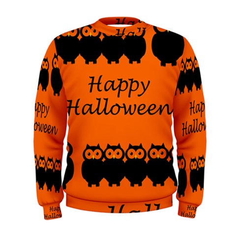 Happy Halloween - owls Men s Sweatshirt