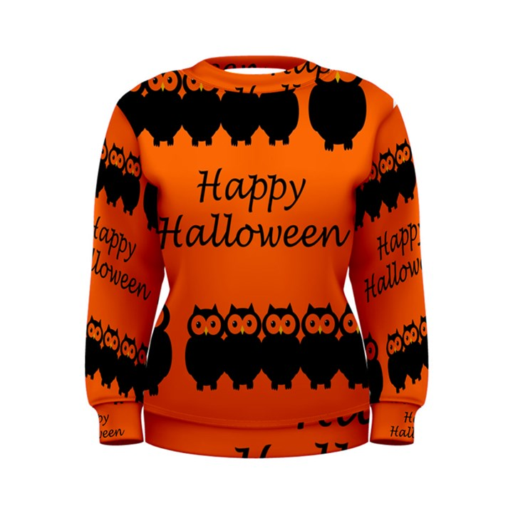 Happy Halloween - owls Women s Sweatshirt