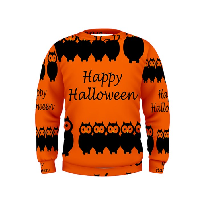 Happy Halloween - owls Kids  Sweatshirt