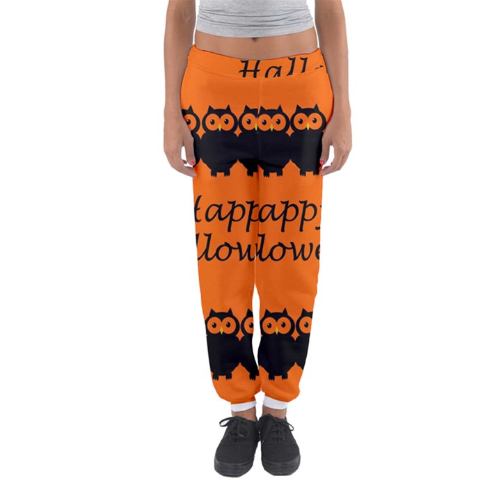 Happy Halloween - owls Women s Jogger Sweatpants