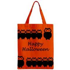 Happy Halloween - owls Zipper Classic Tote Bag