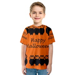 Happy Halloween   Owls Kids  Sport Mesh Tee