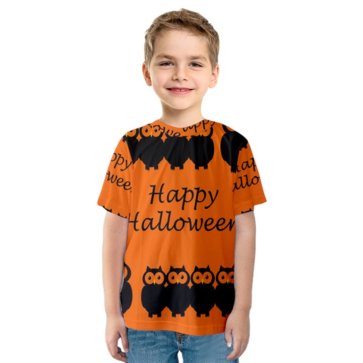 Happy Halloween - owls Kids  Sport Mesh Tee