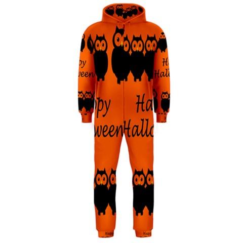 Happy Halloween - owls Hooded Jumpsuit (Men)