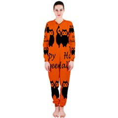 Happy Halloween   Owls Onepiece Jumpsuit (ladies)