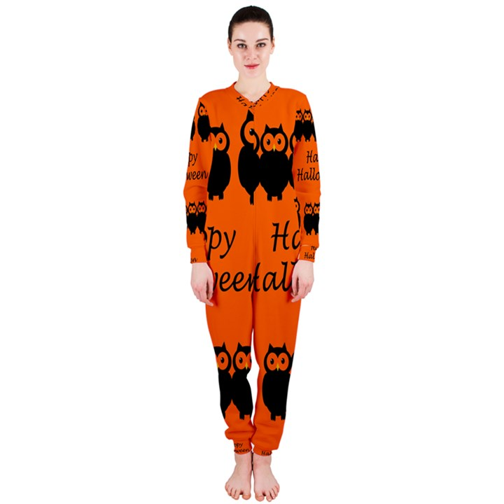 Happy Halloween - owls OnePiece Jumpsuit (Ladies)