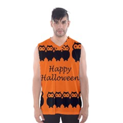 Happy Halloween - owls Men s Basketball Tank Top