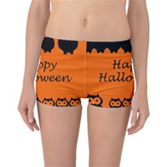 Happy Halloween - owls Boyleg Bikini Bottoms