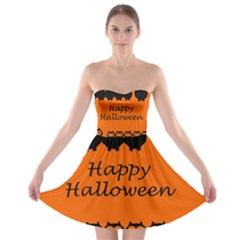 Happy Halloween   Owls Strapless Bra Top Dress