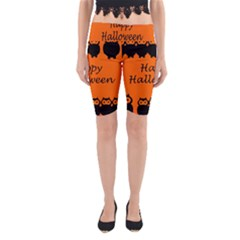 Happy Halloween   Owls Yoga Cropped Leggings