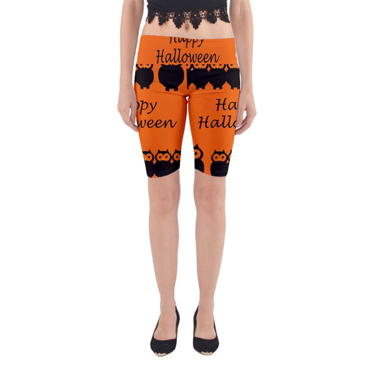 Happy Halloween - owls Yoga Cropped Leggings