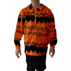 Happy Halloween - owls Hooded Wind Breaker (Kids)