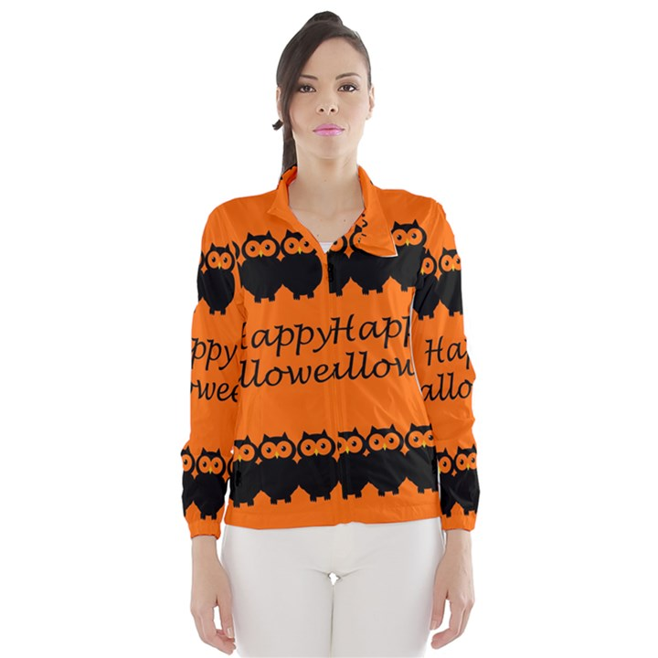 Happy Halloween - owls Wind Breaker (Women)