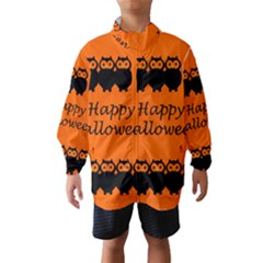 Happy Halloween   Owls Wind Breaker (kids)