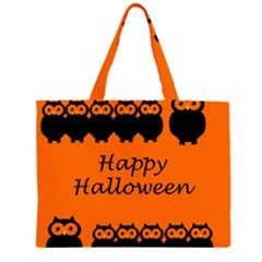 Happy Halloween - owls Large Tote Bag