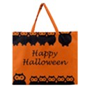 Happy Halloween - owls Zipper Large Tote Bag View1