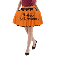 Happy Halloween   Owls A Line Pocket Skirt