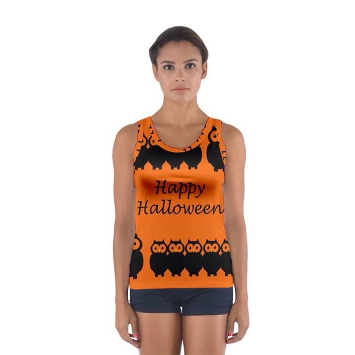 Happy Halloween - owls Women s Sport Tank Top