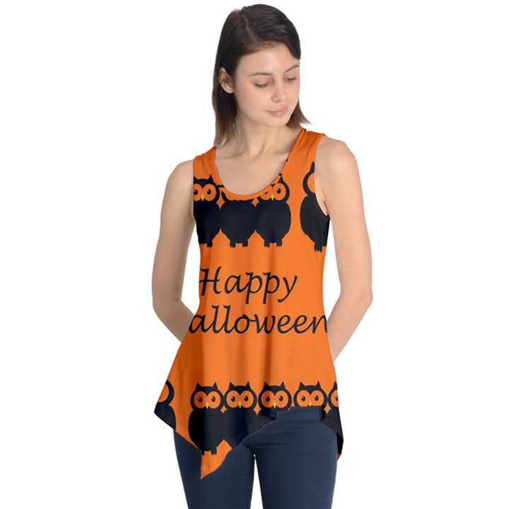Happy Halloween - owls Sleeveless Tunic