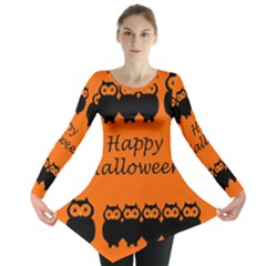 Happy Halloween   Owls Long Sleeve Tunic