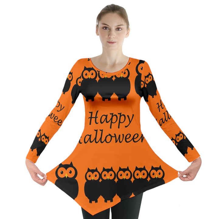 Happy Halloween - owls Long Sleeve Tunic