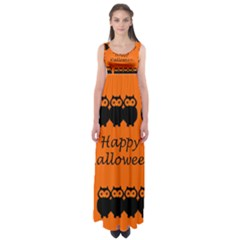 Happy Halloween - owls Empire Waist Maxi Dress