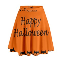 Happy Halloween   Owls High Waist Skirt