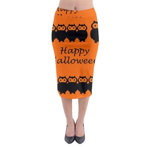 Happy Halloween - owls Midi Pencil Skirt