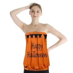 Happy Halloween - owls Strapless Top