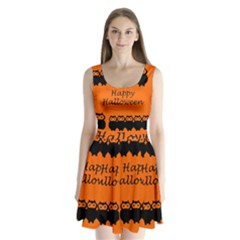 Happy Halloween   Owls Split Back Mini Dress