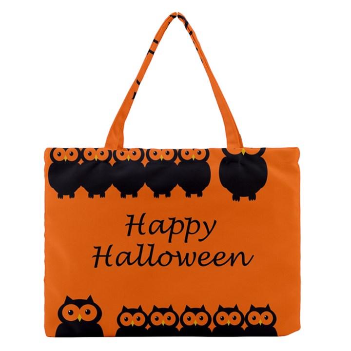 Happy Halloween - owls Medium Zipper Tote Bag