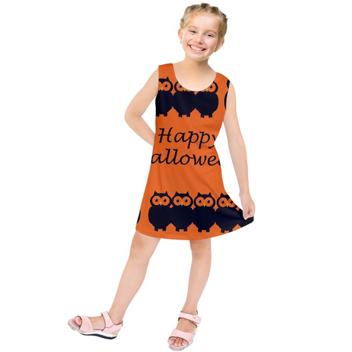 Happy Halloween - owls Kids  Tunic Dress
