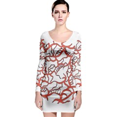 Twenty One Pilots Tear In My Heart Soysauce Remix Long Sleeve Bodycon Dress