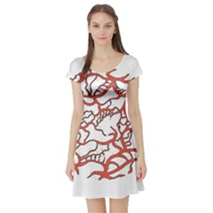 Twenty One Pilots Tear In My Heart Soysauce Remix Short Sleeve Skater Dress