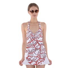 Twenty One Pilots Tear In My Heart Soysauce Remix Halter Swimsuit Dress