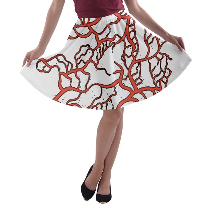 Twenty One Pilots Tear In My Heart Soysauce Remix A-line Skater Skirt