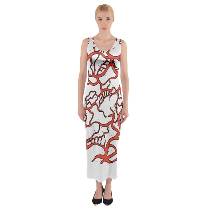 Twenty One Pilots Tear In My Heart Soysauce Remix Fitted Maxi Dress