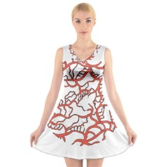 Twenty One Pilots Tear In My Heart Soysauce Remix V Neck Sleeveless Skater Dress