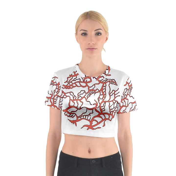 Twenty One Pilots Tear In My Heart Soysauce Remix Cotton Crop Top