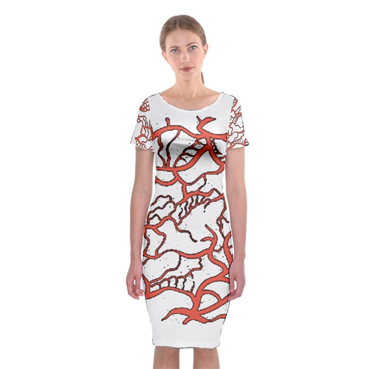 Twenty One Pilots Tear In My Heart Soysauce Remix Classic Short Sleeve Midi Dress