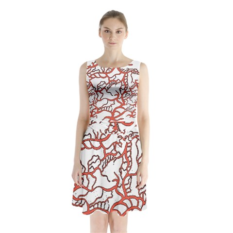Twenty One Pilots Tear In My Heart Soysauce Remix Sleeveless Chiffon Waist Tie Dress