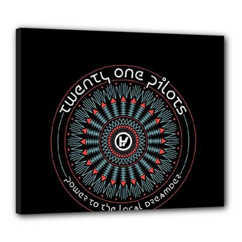 Twenty One Pilots Canvas 24  x 20